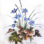 Aquarelle Galerie-Blumenbilder